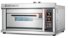 CE verified maunfacturer of bakery equipment offers commercial pizza bakery oven run by gas capacity 1 deck 2trays