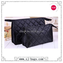 Small quilted microfiber cosmetic bag for china