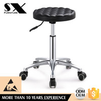 lab stool chair adjustable stool with wheels laboratory chair round seat YZ006/