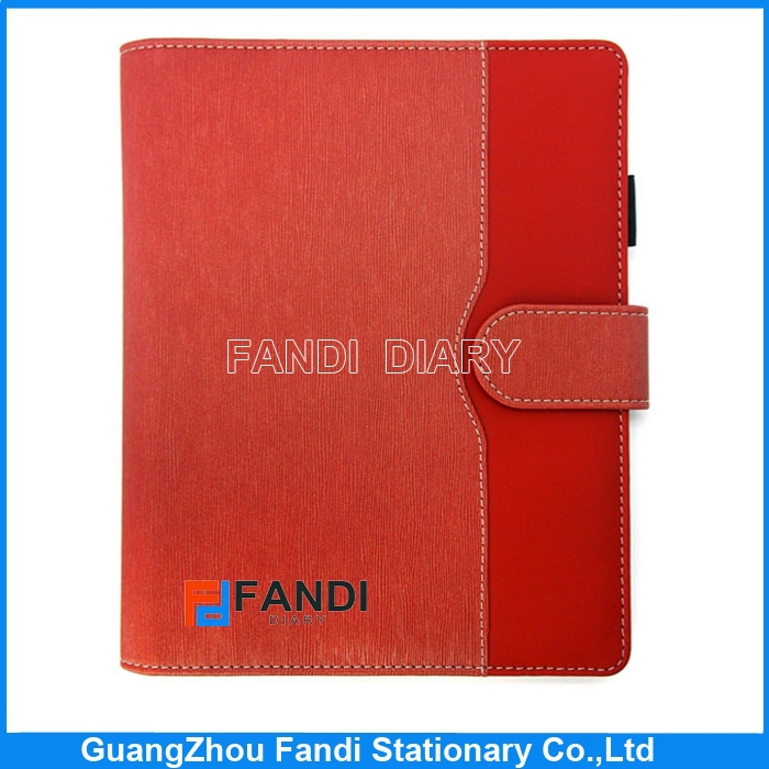 a5 pu leather notebook cover with pen holder