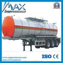 3 Axle insulated tanker trailer with Round Shape