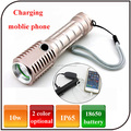 Outdoor Powered by 18650 Rechargeable Battery Led Torch High Power Led Flashlight