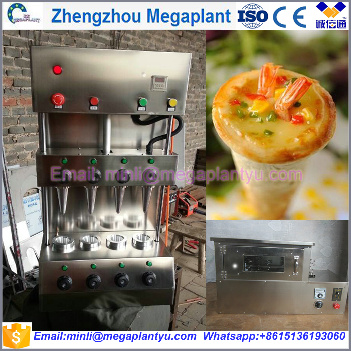 Electric conveyor pizza cone oven making machine for restaurant equipment / pizza cone making machine