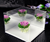 acrylic rose flowers display boxes 6 tier clear acrylic cosmetic makeup organizer with 5 drawers & removable dividers