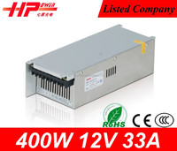 Guangzhou factory price constant voltage single output CE ROHS approved high 400w 12 volt 33 amp high voltag transform