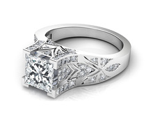 Sterling Silver diamond oval cz ring,platinum ring prices in pakistan