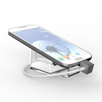 Charge anti-theft cell phone security stand sensor mobile alarm holder