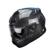 Carbon Fiber Men Open Face Helmets with Visor German Approved Motocross Helmet