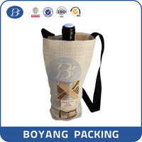 burlap fabric wine bottle jute bag