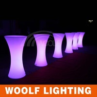 led illuminated modern design bar table
