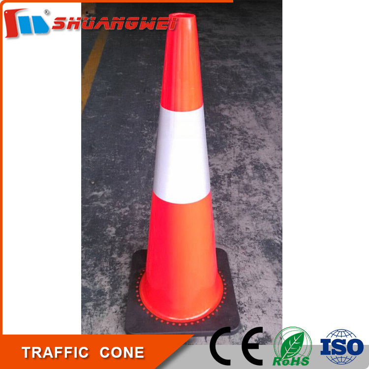 Colored 900mm Soft pvc flexible road traffic cone