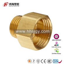 HH-B-250121 brass pipe fitting reducing adapter npt female x npt male