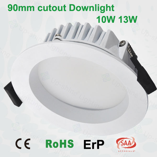 high voltage smd 3inch 90mm cutout downlight 10w dimmable led recessed lamp