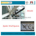 Glass Curtain Wall System/ Spider Wall/ Curtain Wall for skylights