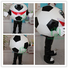 Guangzhou New Carnival Cartoon Customized Football peluche costume Adult Mascot Costume Fancy Dress For Advertising