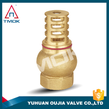 3/4 inch brass NPT thread CONNECTION heavy duty casting water pump foot valve with strainer WITH FOOT VALVE