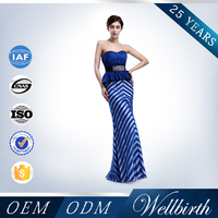 Factory Directly Sell Beaded Long Frock Design For Lady