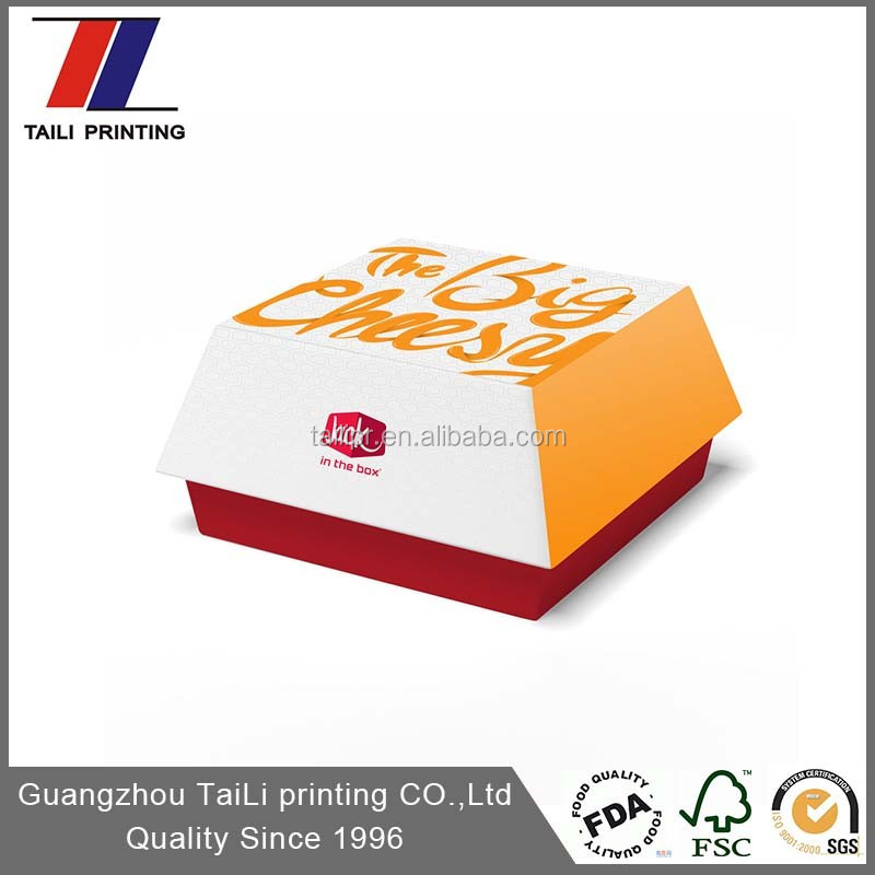 Custom Printed Cheap Disposable Burger Containers
