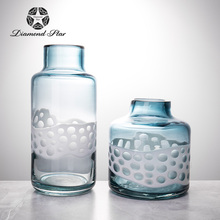 glass flower vase by handmade for Mediterranean style home decoration
