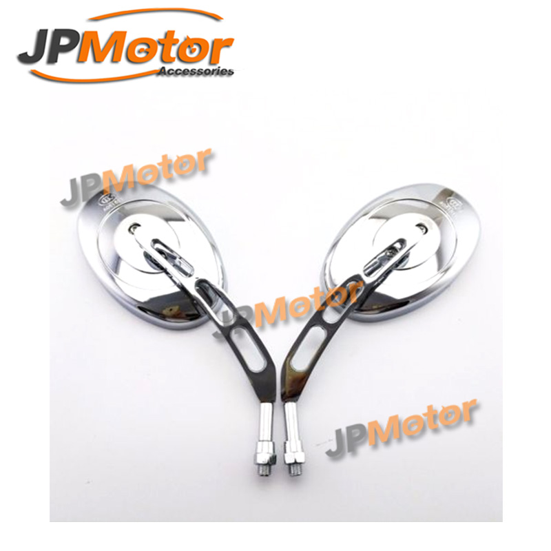 Cruiser Chopper 10mm Chrome Motorcycle Rear View Side Mirrors
