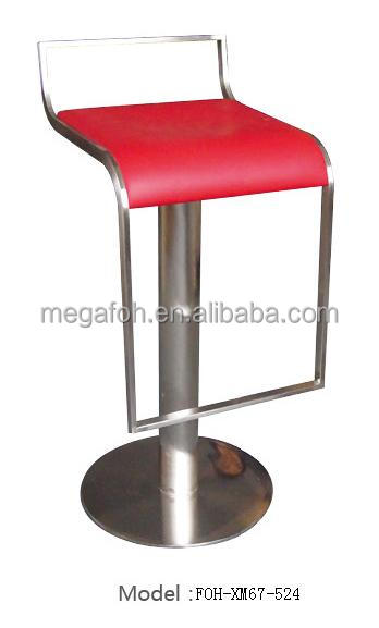 Simple leather bar chair with metal frame(FOH-XM67-524)
