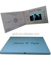 4.3 inch LCD screen video brochure/videoadvertising card for medical business
