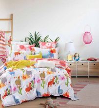 cute design for children cotton bed sheet set