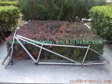 Customize MTB tandem bike frame light weight titanium tandem bike frame with coupler made titanium mtb tandem bicycle frame