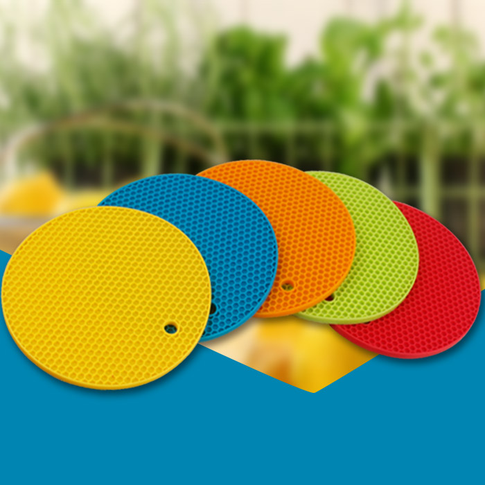 Colourful honeycomb silicone anti slip table round table placement
