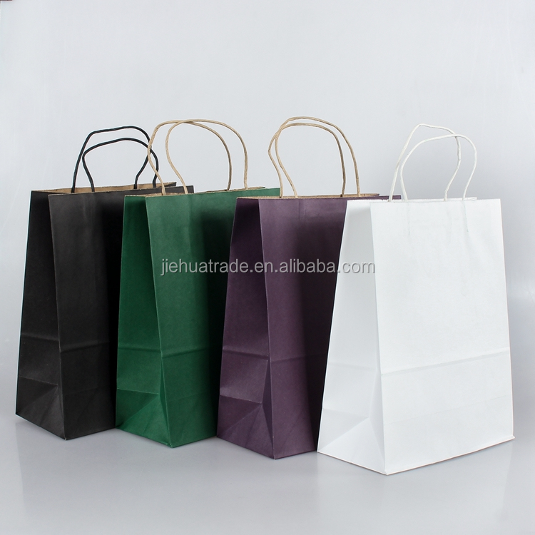 Manufacturer Wholesale Shopping Take Away Twisted Handle 100% Biodegradable Kraft Paper Bag