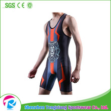 2017 Wholesale Custom Made Sublimation Wrestling Singlet For China