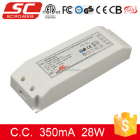 Triac 28w constant current dimmable led driver 300ma