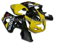 Aftermarket complete bodywork for suzuki gsxr 600 fairing kit GSXR600-750 04-05 K4 yellow/black