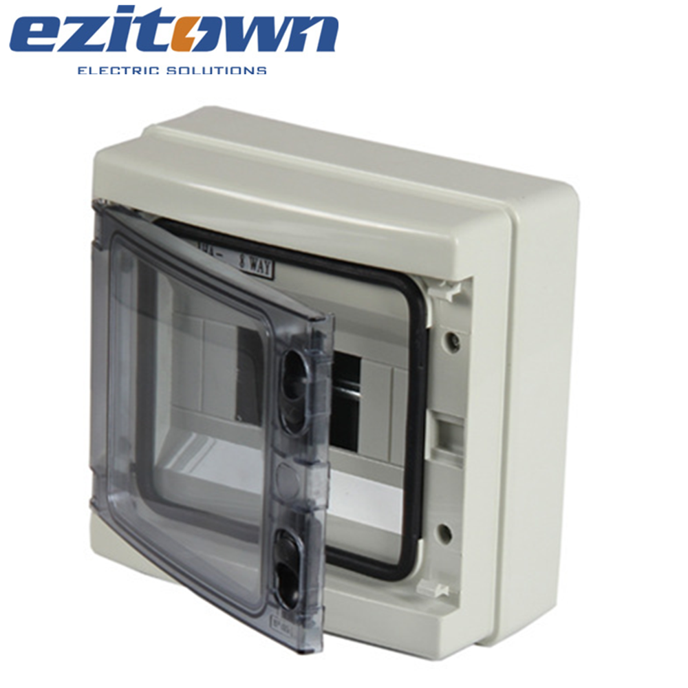 outdoor waterproof plastic 2 4 8 way electra distribution mcb 8 ways breaker electrical box panel board cover price IP65