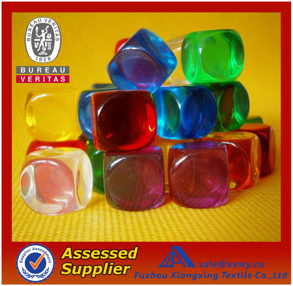 2013 Resin or Acrylic Custom Logo 6 Sides Blank Printed Dice/Carved Dice