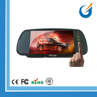 12-24 Volt 7 Inch TFT Color LCD Rearview Mirror Car Monitor for Car/ Van/Camper/RV/Heavy Duty Truck