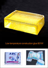 Low temperature baby diaper construction hot melt adhesive