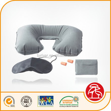 PVC inflatable beach/jumping/water/travel neck pillow - travel set