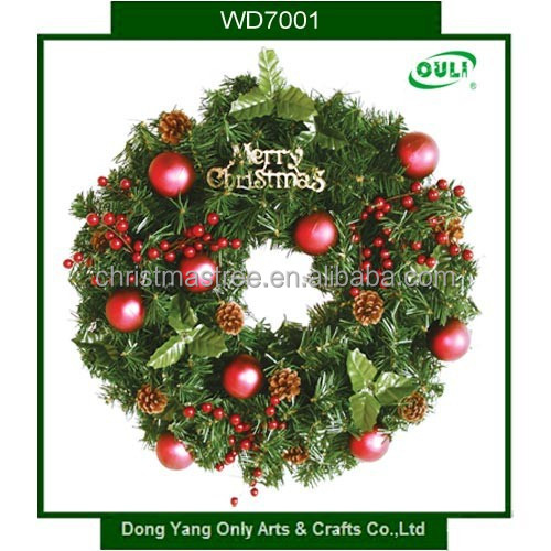 Traditional PVC Christmas Wreath Target Decorative Artificial Flower Christmas Wreaths