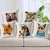 Pipe Animal Cartoon Cushion Cover Decorative Throw Pillow Covers