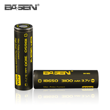 Basen wholesale original 18650 Battery 3.7V high capacity 3100mAh 40A li-ion rechargeable protected lipo battery