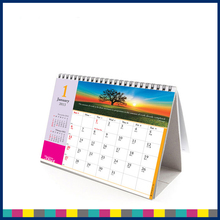 New wholesale Design tent table calendar printing all language desk calendar