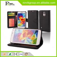 Fashion Book Style Leather Wallet Cell Phone Case for Samsung Galaxy S5