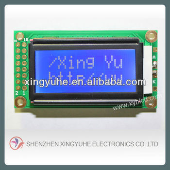 8x2 STN transmissive blue board character lcd display