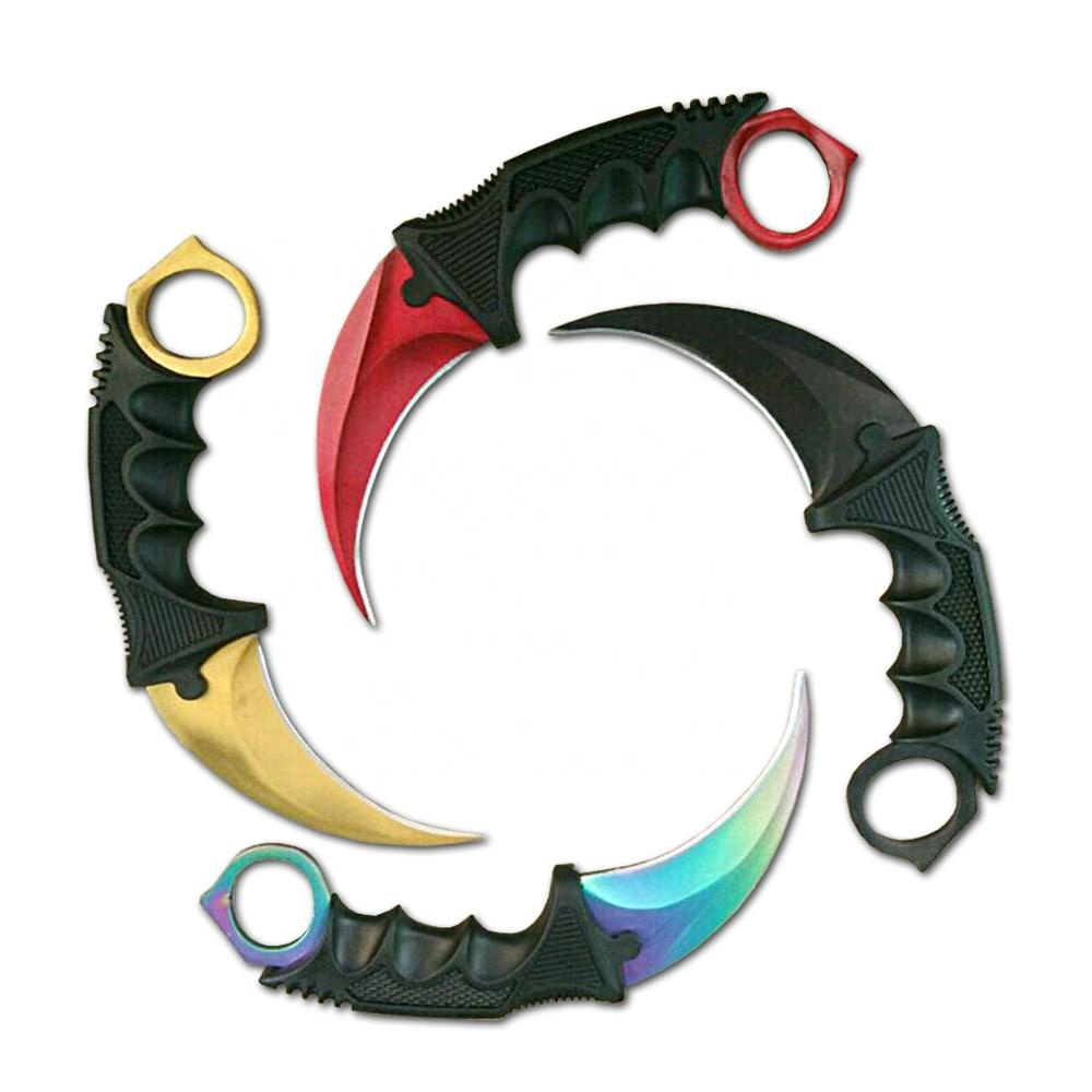Best selling outdoor plastic handle combat csgo karambit <strong>knife</strong>