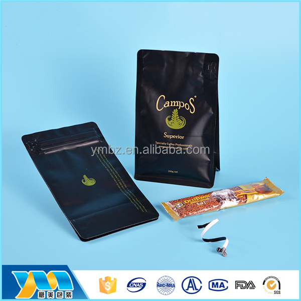 Food grade cheap plastic ziplock printed coffee packing bag
