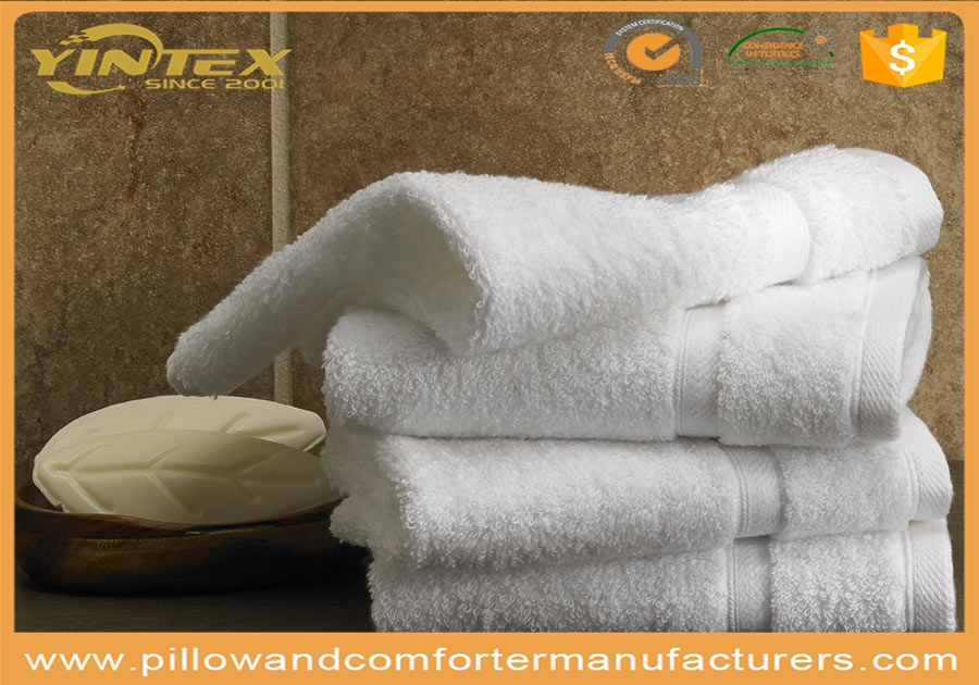 100% cotton plush spa soft cheap wholesale high quality white plain custom size towel for hotel/home