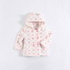 mom and bab 2015 babies clothes for baby hooded flannel coat
