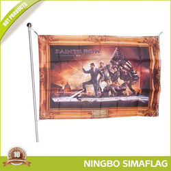 Professional manufacture factory directly wholesale custom cheap outdoor advertising bike flag pole