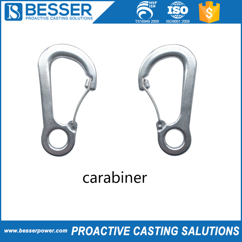 Wholesale top quality durable alloy steel carabiner casting